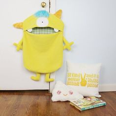 Adorable Monster Toy Bags Containers | Lu & Ed