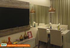 Apartamento decorado 2 quartos do Parque Florença no bairro Santa Mônica II - Feira de Santana - BA - MRV Engenharia - Sala