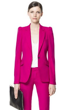 BLAZER WITH PUFFED SHOULDERS