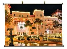 Luxury Mansion - Canvas Wall Scroll Poster (50x70 cm)