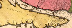 French #map showing #California as an Island (1720)