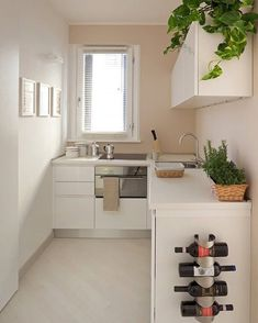 6 Modern Small Kitchen Ideas That Will Give a Big Impact on Your Daily Mood - Houseminds Small Modern Kitchen ,Modern Small Kitchen Design ,Kitchen Island Ideas for Small Kitchens ,Small Kitchen Decor ,Kitchen Ideas for Small Spaces Small Modern Kitchens, Small Space Kitchen, Kitchen Sets, Small Spaces, Kitchen Decor, Kitchen Modern, Kitchen Layout, Very Small Kitchen Design, Basic Kitchen