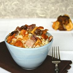 Quick Fall's Rice with Mushrooms and Pumpkin
