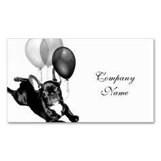 Birthday French Bulldog Business Card Templates