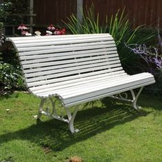 White Painted French Garden Bench - The Hoarde