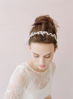 Crystal grape cluster tiara - Style # 403 (2014, hair adornments, headbands, headpieces, ready to ship, twigs and honey, view all) | Headpie... $120