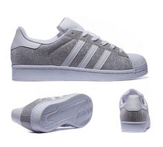 adidas Originals Womens Superstar Glitter Trainer | Silver ...