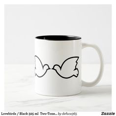Lovebirds / Black 325 ml  Two-Tone Mug
