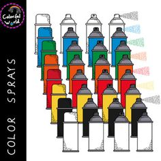 Red Green, Yellow, Blue, Color Spray, Png Format, Sprays, Black White, Clip Art, Orange