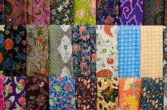 Picture of Closeup of colorful batik, Yogyakarta, Central Java, Indonesia stock photo, images and stock photography. Yogyakarta, Bali Legian, Textiles, Travel Oklahoma, Portugal Travel, New York Travel, Thailand Travel, Decoration, Close Up