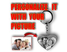 Photo Engraving, Custom Engraving, Photo Keyrings, Personalised Gifts Unique, Heart Keyring, Valentines Gifts For Her, Engraved Gifts, Engagement Gifts, Custom Photo