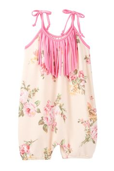 Light Pink Floral Bubble Romper (Baby & Toddler Girls) by Million Polkadots on @nordstrom_rack