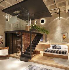 belsőépítészet lakberendezés galéria galériás lakás loft lakás egyterű lakás studio lakás garzon lakás otthon lakáspiac Magyarország ingatlanműhely