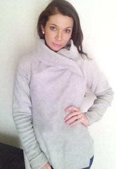 Convertible Fleece Sweater/Hooded Yoga by SheMaySurpriseYou