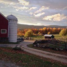 #vermont #vt #soVT #barn #familyfarm #autumn #newengland #redbarn