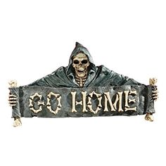Design Toscano Go Home Wall Sculpture ** Check this awesome product by going to the link at the image. (This is an affiliate link) #HalloweenDecorativeSigns