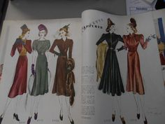 McCall's Magazine, December 1937 featuring McCall 9500, 9503, 9499 on the left page, 9505 and 9519 on the right page