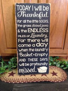 "Primitive ""Today I Will Be Thankful""  wood subway sign by CCWD, $24.99"