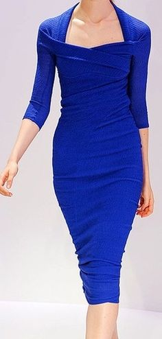 Electric Blue ruched dress