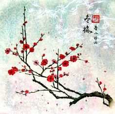 japanese flower wall painting - Bing Images