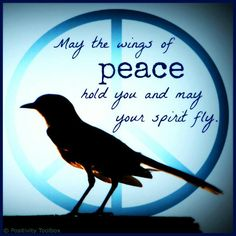 May the wings of Peace hold you and may your spirit fly. ☮