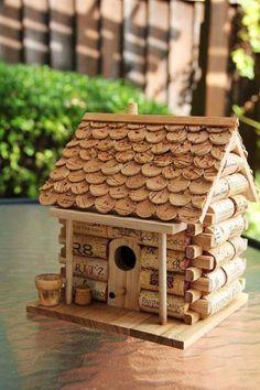 Cork Birdhouse - Vogelhaus aus Weinkorken