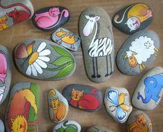 Painted rock - http://www.na-vazkach.cz/vytvarne-kurzy/malovane-kameny/