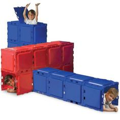 www.hammacher.com... - Children's Configurable Fort.  So cool!  I wish we had this when I was a kid.