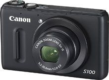 Our family compact camera.  Canon - PowerShot S100 Black 12.1-Megapixel Digital Camera -
