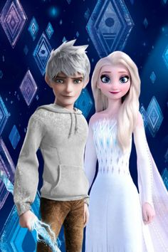 Jelsa - Elsa and Jack Frost - Frozen 2 / Rotg Elsa Y Jack Frost, Jake Frost, Jack And Elsa, Princesa Disney Frozen, Disney Princess Frozen, Disney Princess Pictures, Princess Luna, Jelsa, Rapunzel