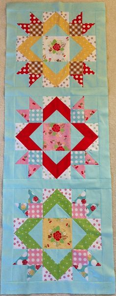 Scrappy Happy Summer Sew Along, Table Runner