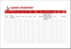 Liquor Inventory Sheet DOWNLOAD at http://www.templateinn.com/25-inventory-templates-for-everyone/