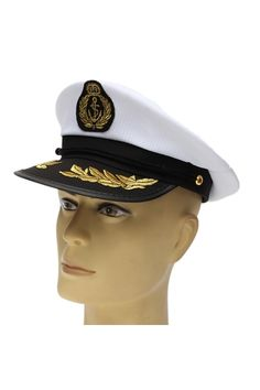 ab5fb76019a Buy Adult Yacht Boat Captain Hat Navy Cap Ship Sailor Costume Party Dress  Cosplay online at