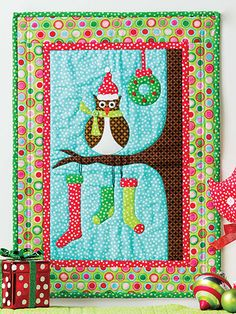 Owl Be Home for Christmas Wall Hanging Pattern