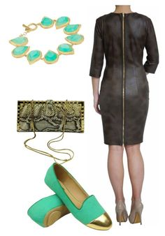 Olive & Aqua by tubino-skirts-dresses on Polyvore featuring polyvore, fashion, style, Judith Leiber, Karen Kane and clothing