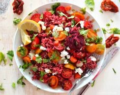 Hmmm, check out this delicious pink tomato rice recipe! #Fitgirlcode #healthy #recipe