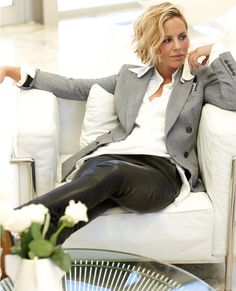 Maria Bello, O! Oprah Magazine - September 2013. Hair - Mara Roszak / Starworks Artists.