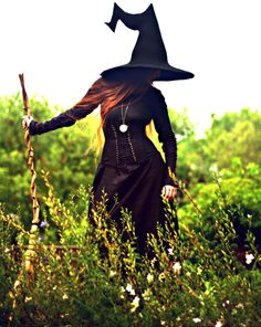 "Crooked Witch Hat Featuring a fully sculpted ""crooked"" witch hat tail, combining the kinked look of Fantasy Witch, Witch Art, Cosplay Costumes, Halloween Costumes, Halloween Fun, Halloween Witches, Witch Cosplay, Vintage Halloween, Witch Costume Adult"