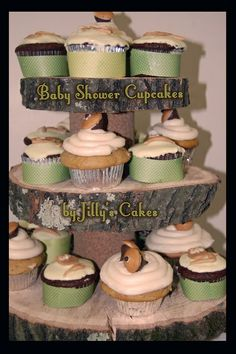 woodland baby shower ideas | Jilly's Cakes: Cupcakes for a forest themed baby shower! | Party ideas