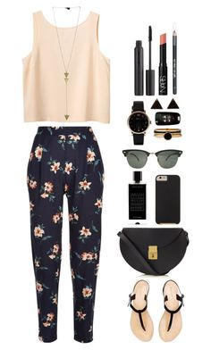 """//is it too late now to say sorry?//"" by ale-directioner-16 on Polyvore featuring moda, Monki, Nudestix, Ray-Ban, Marc by Marc Jacobs, NARS Cosmetics, Lizzy Disney, American Apparel, Case-Mate y Agonist"