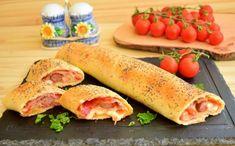 rulada-cu-carnati-si-mozzarella-in-aluat-fraged-5 Fresh Rolls, Mozzarella, Sausage, Cooking Recipes, Meat, Ethnic Recipes, Hot Dogs, Food, Recipe