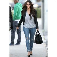 JET Jeans Slim Wrinkle Jean in Light Blue ($209) via Polyvore... - Kim Kardashian Style