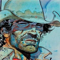 By Jean Giraud Jean Giraud, Art And Illustration, Illustrations Posters, Comic Book Artists, Comic Artist, Comic Books Art, Western Comics, Western Art, Moebius Art