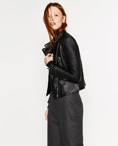 Image 3 of LEATHER EFFECT JACKET from Zara