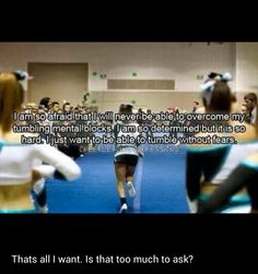 Most frustrating thing about cheerleading! This is my problem with cheer right now. Cheerleading Quotes, Gymnastics Quotes, Cheer Stunts, Gymnastics Workout, Cheer Dance, Team Cheer, Cheerleading Cheers, Cheer Athletics, Olympic Gymnastics