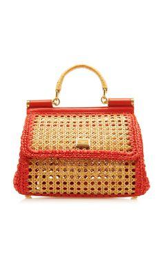 Sicily Woven Raffia Bag by DOLCE   GABBANA Now Available on Moda Operandi  Borse Alla Moda 07df0cb9500