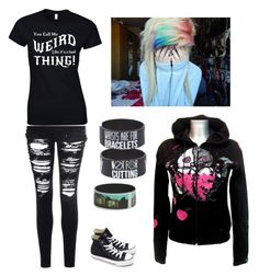 """Emo life"" by i-like-bands-alott ❤ liked on Polyvore"