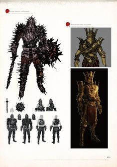 Kirk and Lautrec - Dark Souls - Design Works Concept Art World, Fantasy Concept Art, Game Concept Art, Dark Fantasy, Dark Souls Art Book, Samurai, Game Character Design, Character Concept, Monster Design
