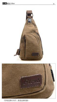 Women/Men Canvas Shoulder Backpack Sling Hiking Shoulder Bicycle Bag Chest Bags   eBay