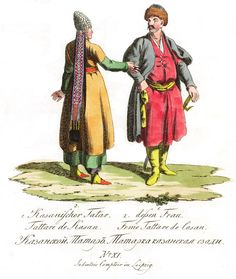 11. Казанский татар. Татарка казанская сзади.